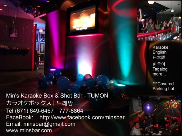 Mins Bar Guam | Music Karaoke Box KTV & Shot Bar Venue